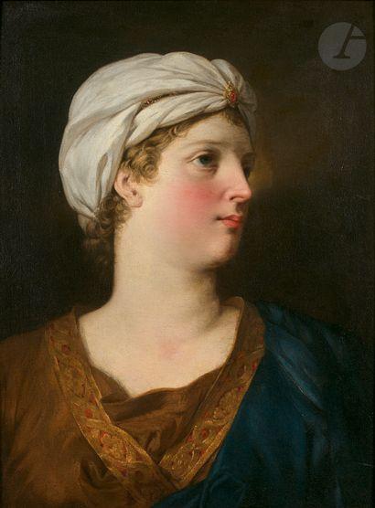 Attribué à Pierre SUBLEYRAS (1699-1749) Tête...