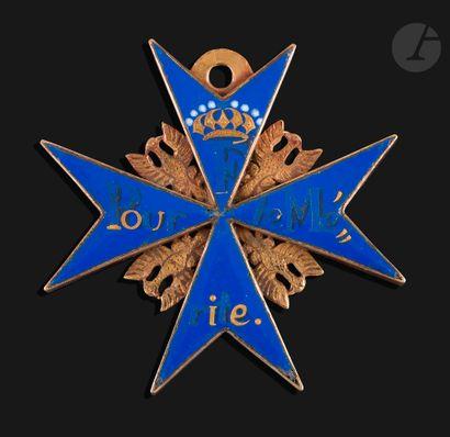 PRUSSE CROIX « POUR LE MÉRITE » Rare croix,...