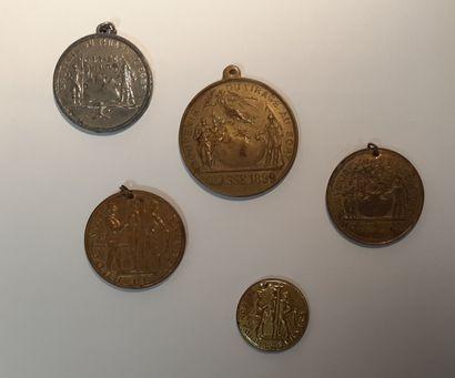 Cinq médailles « Bon pour le Service », vers...