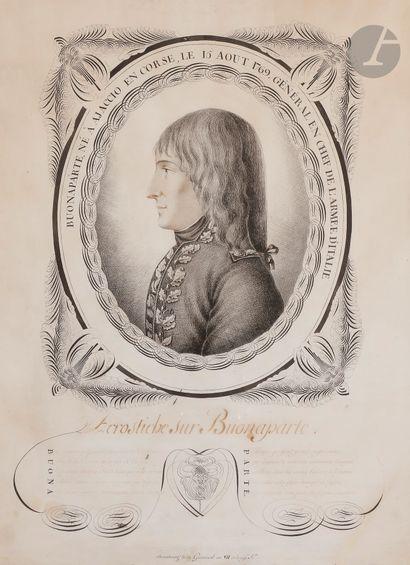 École française, vers 1800. Le général Buonaparte...