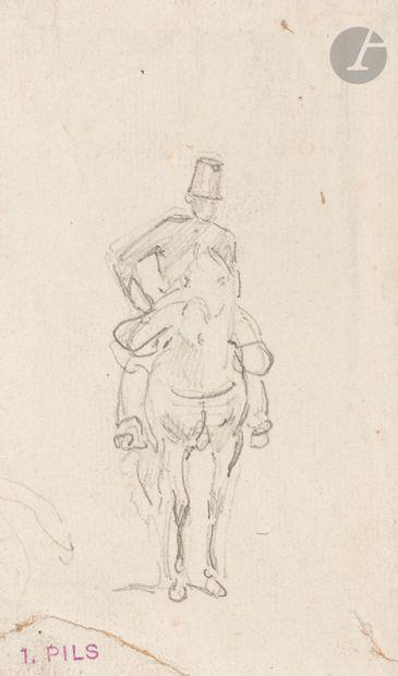 Isidore PILS (1815-1875) Cavalier Dessin...