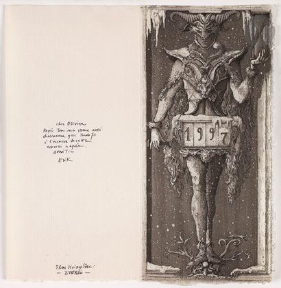 Erik Desmazières (né en 1948) Carte de vœux...