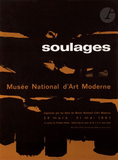 Pierre Soulages (né en 1919) (d'après) Affiche...
