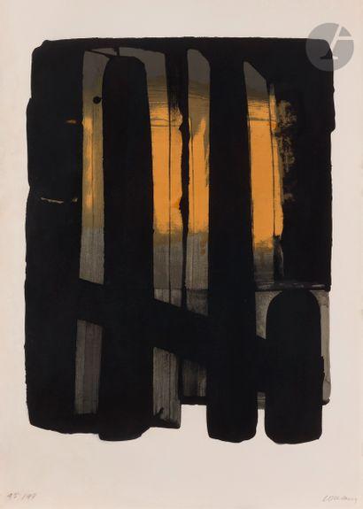 Pierre Soulages (né en 1919) Lithographie...