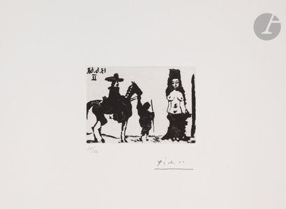 Pablo Picasso (1881-1973) Maja et cavalier....