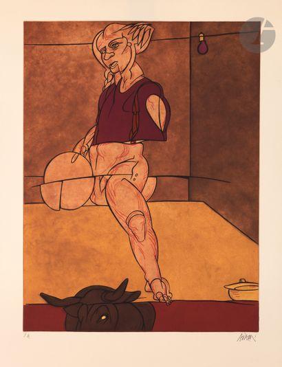 Valerio Adami (italien, né en 1935) L'Enlèvement...