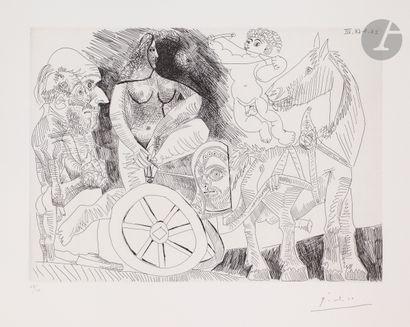Pablo Picasso (1881-1973) Char romain monté...