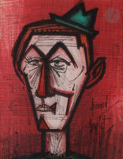Bernard Buffet (1928-1999) Le Clown au fond...