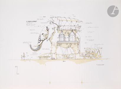 François Delarozière (né en 1963) L'Éléphant....