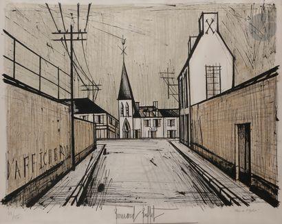 Bernard Buffet (1928-1999) Église du village....
