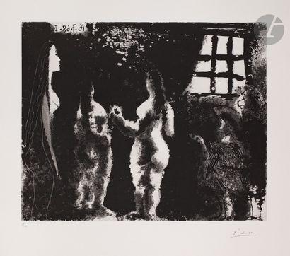 Pablo Picasso (1881-1973) En pensant à Goya:...
