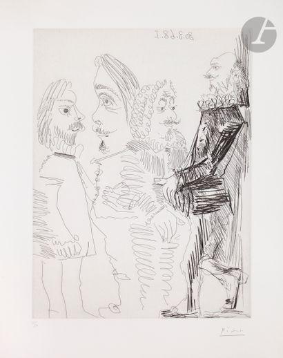 Pablo Picasso (1881-1973) Quatre hommes en...