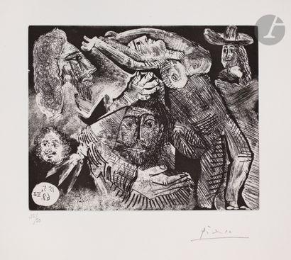 Pablo Picasso (1881-1973) «Les Trois mousquetaires»,...