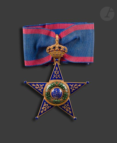 ÉGYPTE ORDRE D'ISMAÏL. Étoile de commandeur....