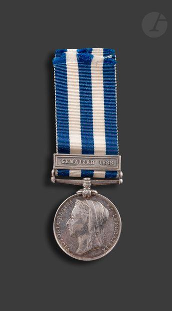 GRANDE-BRETAGNE EGYPT 1882-89 Medal. En argent....