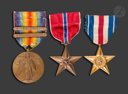 U.S.A. Trois médailles : - Médaille interalliée...