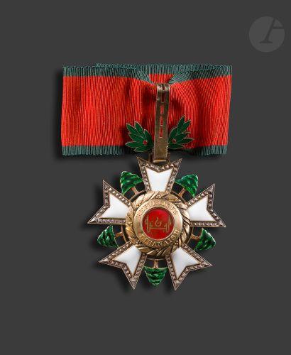 LIBAN ORDRE DU CÈDRE Étoile de commandeur,...