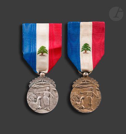 LIBAN Ordre du Mérite Libanais Ensemble deux...