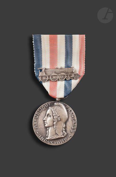 INDOCHINE Médaille d'honneur des chemins...