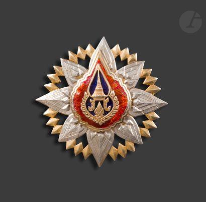 SIAM ORDRE DE LA COURONNE Plaque de grand-croix...