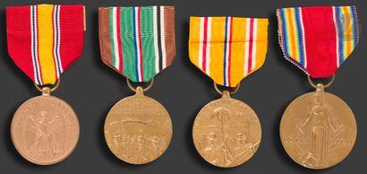 U.S.A Ensemble de quatre médailles : - «...