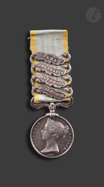 GRANDE-BRETAGNE CRIMEA Medal En argent, par...
