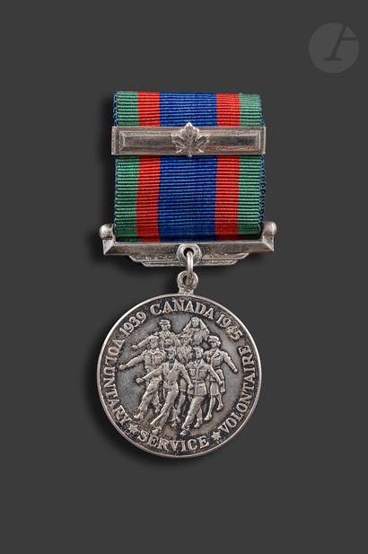 CANADA MÉDAILLE DU SERVICE VOLONTAIRE (19139-1945)...
