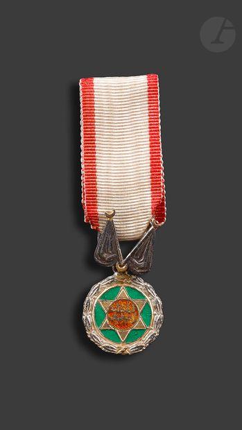 MAROC Miniature de la médaille du mérite...