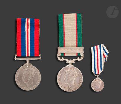 GEORGES VI Trois médailles : - 1939-1945...