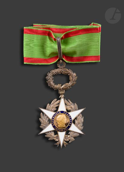 FRANCE ORDER OF AGRICULTURAL MERIT Commander's star in vermeil and enamel (tiny...