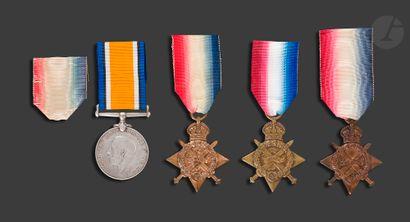 GEORGES V Quatre médailles : - 1914 STAR....