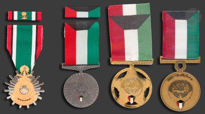 KOWEIT - ARABIE SAOUDITE - KOWEIT. Médaille...