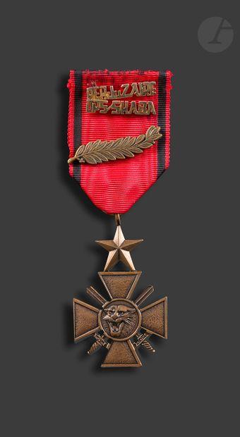 ZAÏRE Croix de la Bravoure donnée aux militaires...