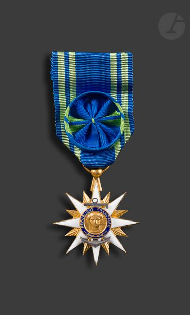 FRANCE ORDRE DU MÉRITE MARITIME Étoile d'officier...