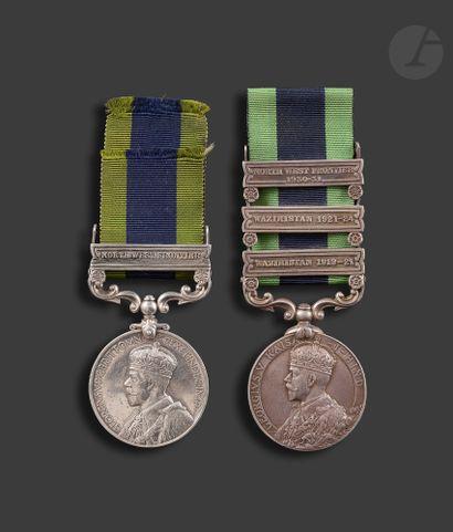 GEORGES V Deux médailles INDIA GENERAL SERVICE...