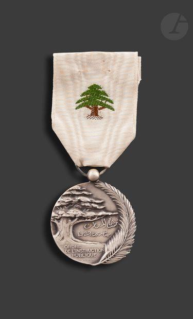 LIBAN ORDRE DE L'INSTRUCTION PUBLIQUE Médaille...