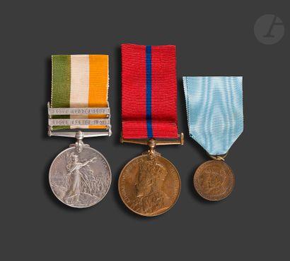 EDOUARD VII – GEORGES V Trois médailles :...