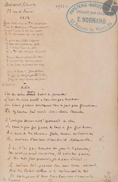 [SILVESTRE (Armand)]. Les Ailes d'or En français,...