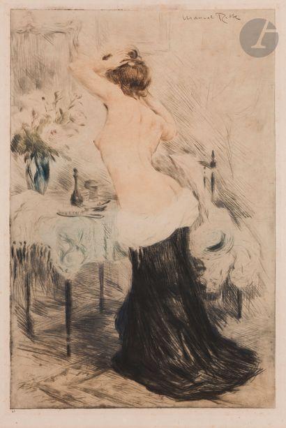 Manuel Robbe (1872-1936) Le Modèle. Vers...
