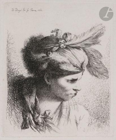 Benigno Bossi (1727-1792) Homme au turban...