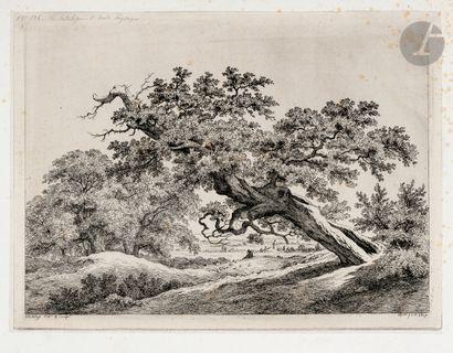 Eugène Bléry (1805-1886) Le Vieux chêne penché....