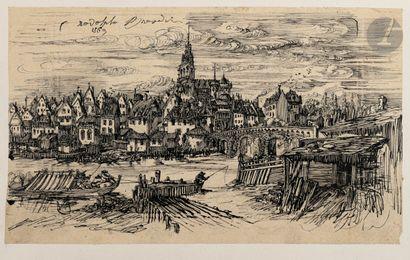 Rodolphe Bresdin (1822-1885) La Ville au...