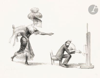 Jean Veber (1864-1928) La Dame inexorable....