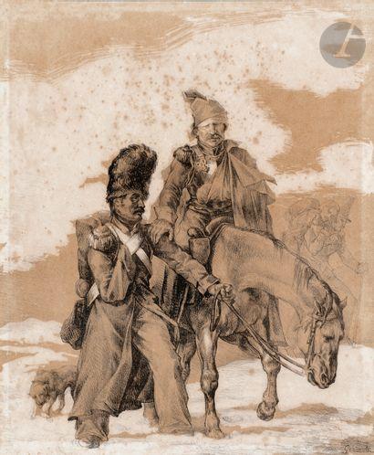 Théodore Géricault (1791-1824) Retour de...