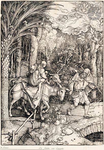 Albrecht Dürer (1471-1528) La Fuite en Égypte....