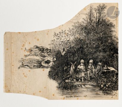 Rodolphe Bresdin (1822-1885) Repos dans la...