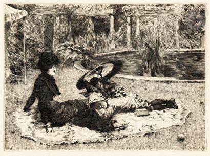James-J.-J. Tissot (1836-1902) Sur l'herbe....