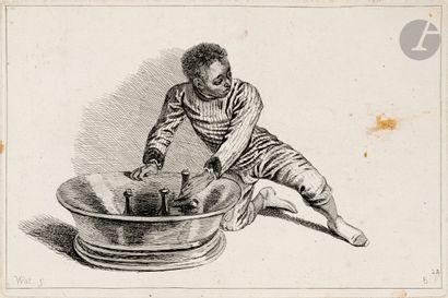 Antoine Watteau (1684-1721) (d'après) Sujets...