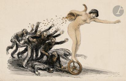 Jean Veber (1864-1928) La Fortune poursuivie....