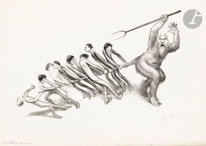 Jean Veber (1864-1928) Le Diable tiré par...